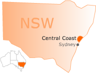 Location and Map Central Coast Australia