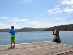 Fishing on Wagstaffe Public Wharf