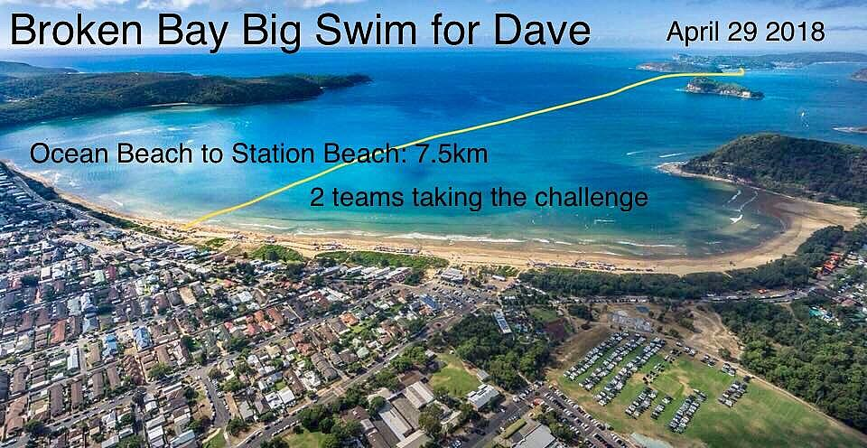 Big Swim 4 Dave - Broken Bay Swim to Help a Family in Need