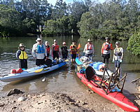 Kayak Social Group takes to the Brisbane Water for Clean Up Australia Day